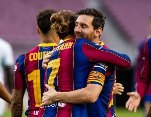 Antoine Griezmann dan Lionel Messi