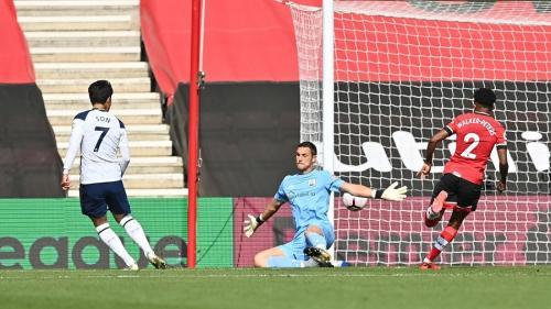 Momen Son cetak gol gol di laga Southampton vs Tottenham