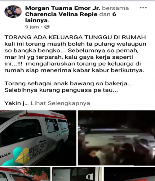 ambulan dirusak