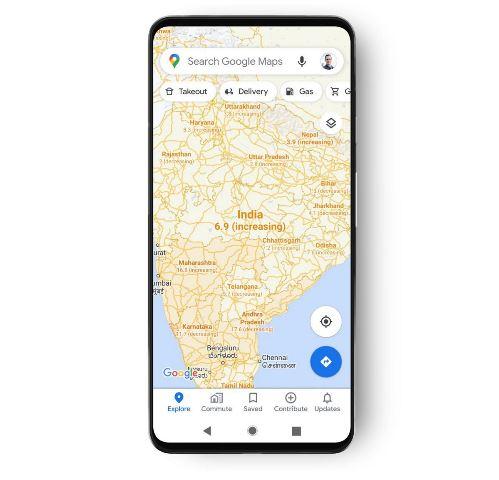 Google Maps Covid-19. (Foto: Ubergizmo)