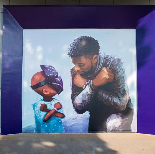 Mural Chadwick Boseman