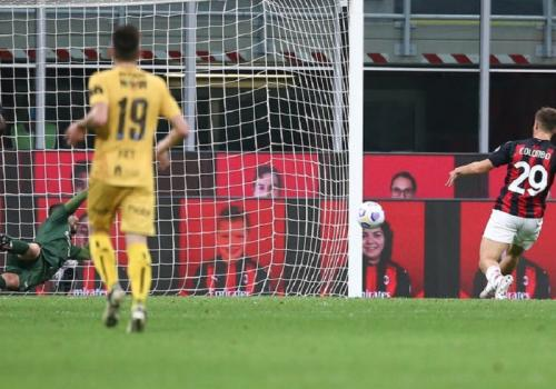 Lorenzo Colombo cetak gol pertama untuk AC Milan (Foto: AC Milan)