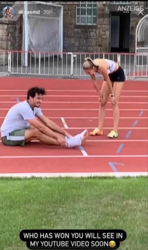 Alica Schmidt dan Mats Hummels