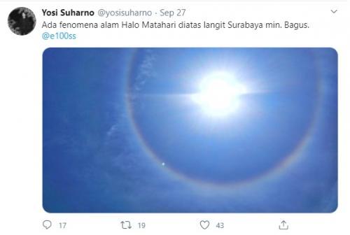 Fenomena halo terjadi pada 27 September 2020.