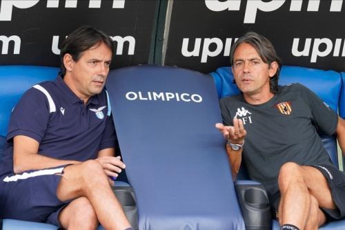 Simone dan Filippo Inzaghi dalam laga persahabatan (Foto: Benevento Calcio)