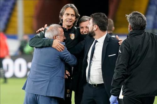 Filippo Inzaghi berhasil melambungkan Benevento (Foto: Benevento Calcio)