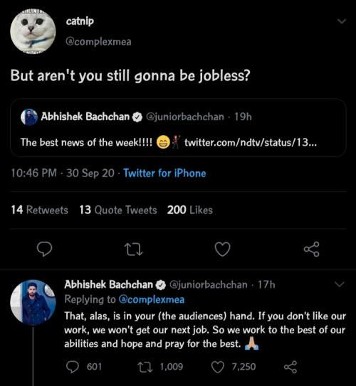 Abhishek Bachchan. (Foto: Twitter/@juniorbachchan)