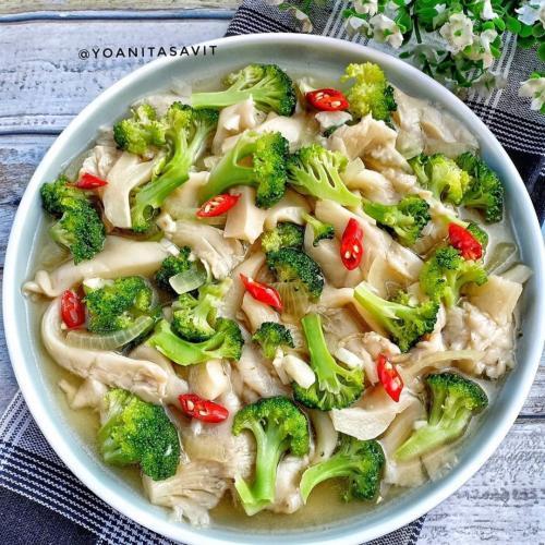 Cah Jamur Brokoli