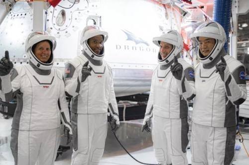 Astronaut NASA Misi Crew 1 menuju ISS. (Foto: NASA)