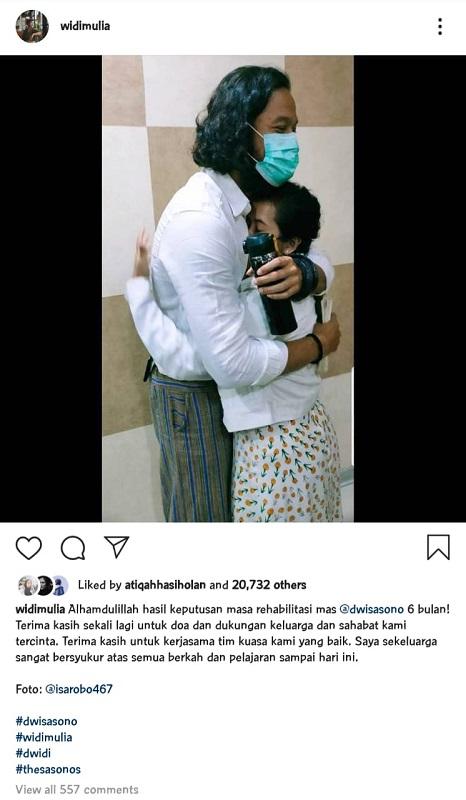 Dwi Sasono dan Widi Mulia. (Foto: Instagram/@dwisasono)