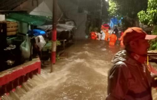 Banjir di Jakarta.