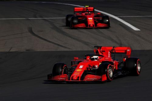 Sebastian Vettel dan Charles Leclerc melaju di Jerman (Foto: Scuderia Ferrari)