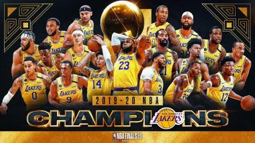 LA Lakers menjadi kampiun NBA 2019-2020 (Foto: Twitter/@Lakers)
