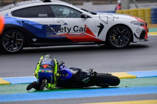 Momen kecelakaan Valentino Rossi di GP Prancis