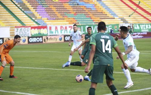 Lautaro Martinez bantu Argentina menang lawan Bolivia (Foto: Federasi Sepakbola Argentina)