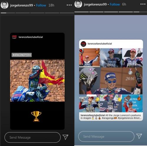 Jorge Lorenzo upload momen kemenangannya di GP Aragon