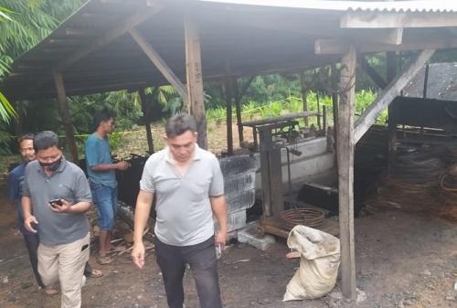 Lokasi ditemukannya Cai Changpan tewas tergantung di hutan Jasinga Bogor. (Dok Pemerintah Desa Koleang)