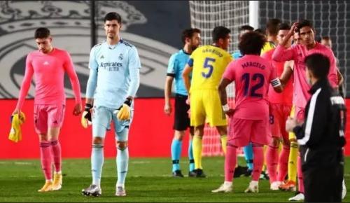Momen kekalahan Madrid dari Cadiz