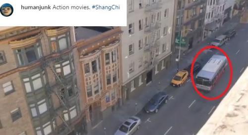 Syuting Sang-Chi di Dan Francisco. (Foto: Instagram/@humanjunk)