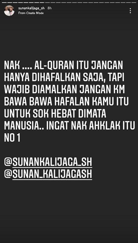Sunan Kalijaga. (Foto: Instagram/@sunankalijaga_sh)