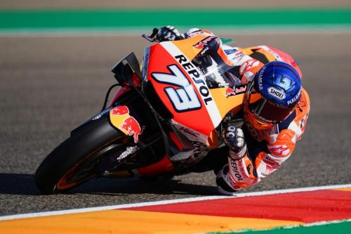 Alex Marquez melaju di Sirkuit Motorland Aragon (Foto: Honda Racing Corporation)