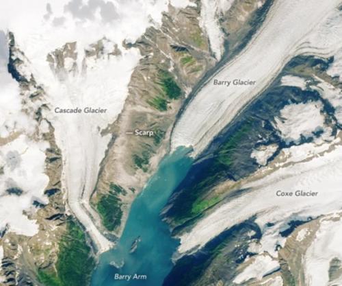 Potensi mega-tsunami di Alaska. (Foto: Lauren Dauphin/NASA Earth Observatory/USGS/Scence Alert)