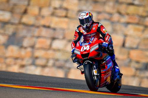 Andrea Dovizioso melaju di Sirkuit Motorland Aragon (Foto: MotoGP)