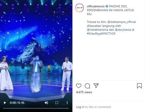 Ada Didi Kempot di Kilau Raya MNCTV. (Foto: Instagram/@officialmnctv)