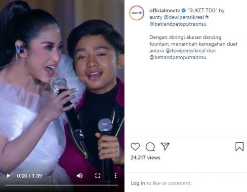 Duet Dewi Perssik dan Betrand Peto di Kilau Raya MNCTV.