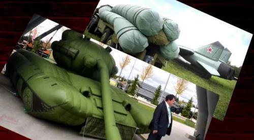 Replika mesin perang dari balon
