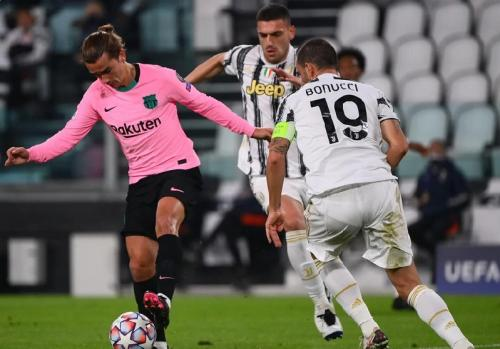 Aksi Griezmann di laga Juventus vs Barcelona