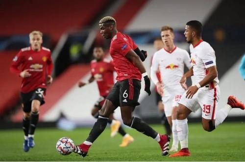 Suasana laga Man United vs Leipzig