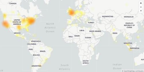 Twitter mengalami down pada Kamis 29 Oktober 2020 dini hari. (Foto: Down Detector)