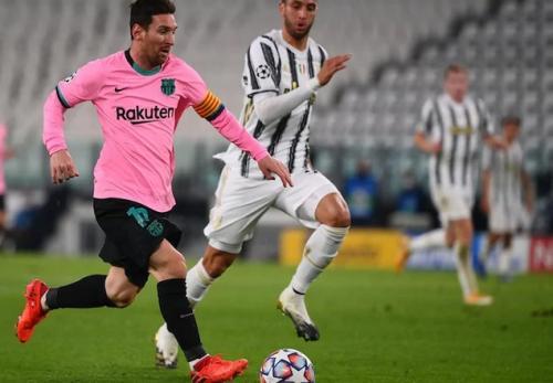 Lionel Messi vs Juventus (Foto: Laman resmi UEFA)