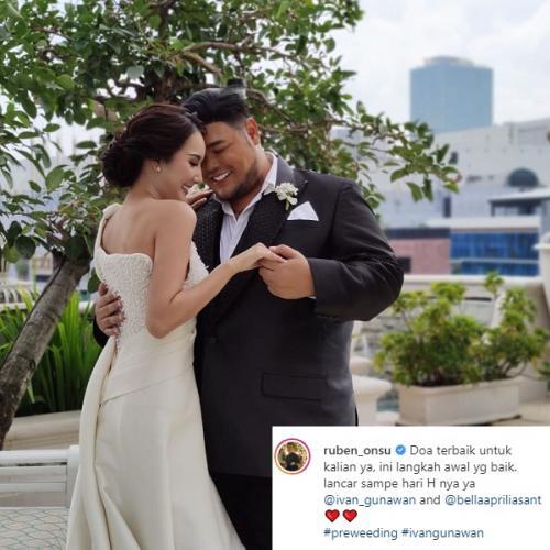 Foto prewedding Ivan Gunawan dan Bella Aprilia. (Foto: Instagram/@ruben_onsu)