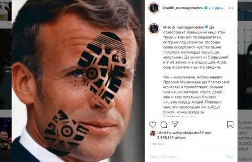 Posting-an Khabib soal Macron