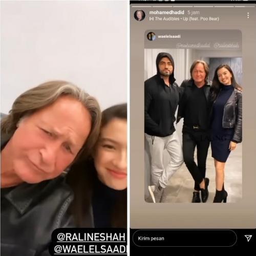 Raline Shah bersama Mohamed Hadid.