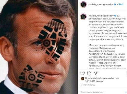 Kritik Khabib Nurmagomedov terhadap Emmanuel Macron