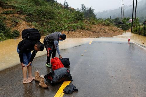 Musibah tanah longsor di Guatemala (Foto: Reuters/Luis Echeverria)
