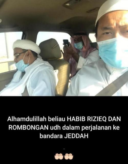 Viral foto Habib Rizieq ke Jeddah Foto Media Sosial