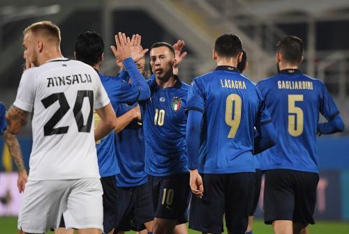 Timnas Italia menang telak 4-0 atas Estonia (Foto: Reuters/Alberto Lingria)