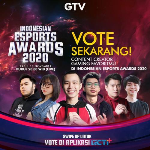 GTV Indonesian Esports Awards 2020 merupakan ajang penghargaan Esports yang pertama di Indonesia.