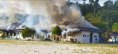 Kantor Koperasi dan UKM terbakar