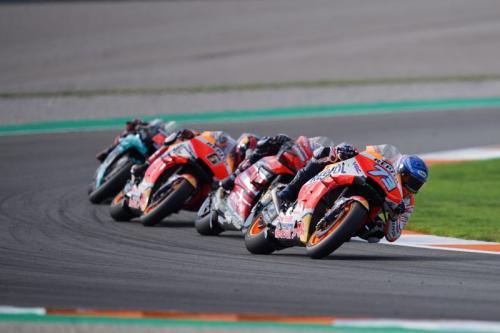 Alex Marquez menikung (Foto: Honda Racing Corporation)