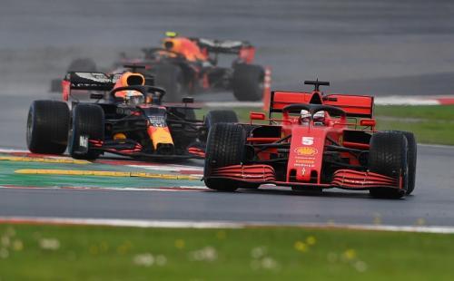 Sebastian Vettel melaju di F1 GP Turki 2020 (Foto: Reuters/Ozan Kose)