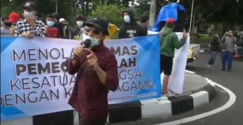 Demo protes Habib Rizieq di Bandung