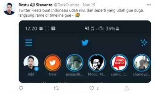 Tanggapan pengguna internet terhadap armada Twitter. (Foto: Twitter @DarkOushiza)
