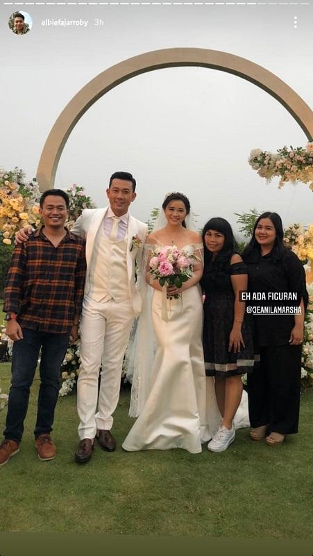 Denny Sumargo menikah. (Foto: Instagram/@elbiefajarroby)