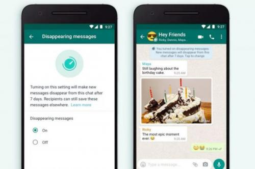 Fitur baru WhatsApp dissepearing messages. (Foto: WhatsApp/Antara)