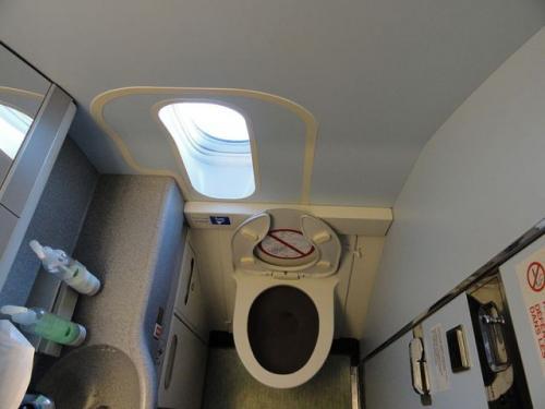Toilet pesawat. (Foto: Wikipedia)